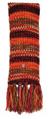 Long Hand knit pure wool multi electric Scarf