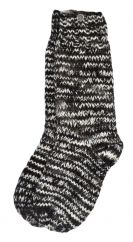Pure wool hand knit socks Natural Electric