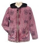 Stonewashed  - Printed  - Border Jacket - Pink