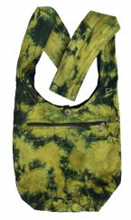 Tie dye beach bag long handle green