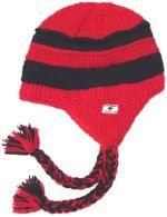 Snowboarder Red And Black Stripe