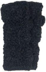 Fleece lined wristwarmer crochet Black