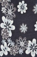 Floral Blanket/shawl Black