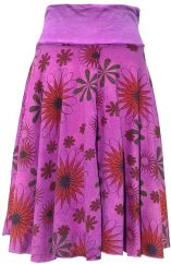 Printed Midi Skirt Purple