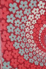 Swirl Blanket/shawl Red M/C