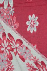 Floral Blanket/shawl Red