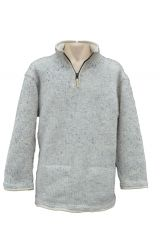 Fleece lined pull on fine wool mix  Pale Grey