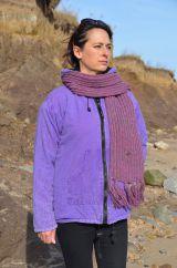 Light weight Stonewashed cotton hoody purple