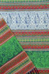 Mock Paisley blanket/shawl Green