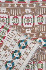 Squares Blanket/shawl Brown