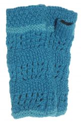 Fleece lined wristwarmer unique Turquoise