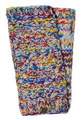 Hand knit blackberry stitch wristwarmer multi coloured
