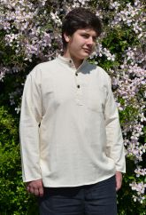 Flax shirt Natural white