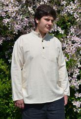 Flax shirt long sleeved Natural white
