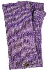 Fleece lined Fine Wool Mix wristwarmer  Violet