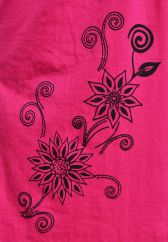 Cut out detail neckline sleeveless tunic pinks