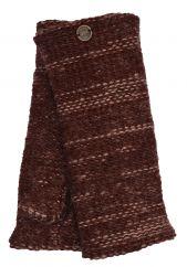 Fleece lined Fine Wool Mix wristwarmer  Brown