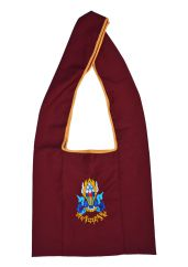 Buddhist embroidered motif bag maroon
