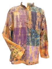 Tie Dyed Patchwork Shirt Dawn
