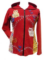 Owl Jacket Red