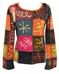 Squiggle pattern top autumn