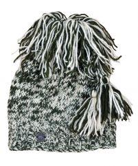 Pure wool half fleece lined shaggy tie top hat Green