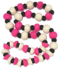 """Two In One"" Necklace Pink"