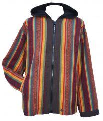 Brushed gheri cotton hooded jacket Spice