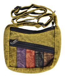 Small panelled long handled bag Green