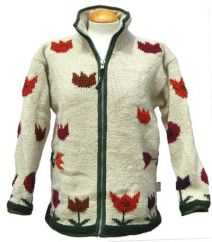 Fleece lined pure wool jacket Tulip