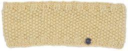 Fleece lined pure wool moss stitch headband cream