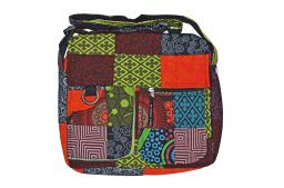 Satchel mosiac multi patterned bag