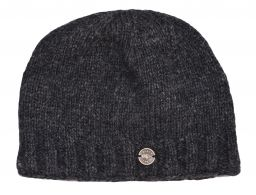 Pure Wool half fleece lined beanie Charcoal