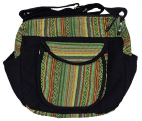 Gheri cotton small weekend bag green
